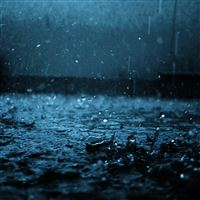 Close-up drop black blue rain iPad Air wallpaper