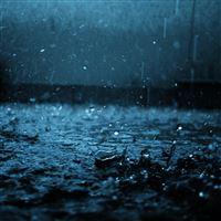 Close-up drop black blue rain iPad wallpaper
