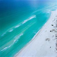 Sea blue green skyview  summer iPad wallpaper