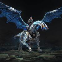Dragon rider wings iPad wallpaper