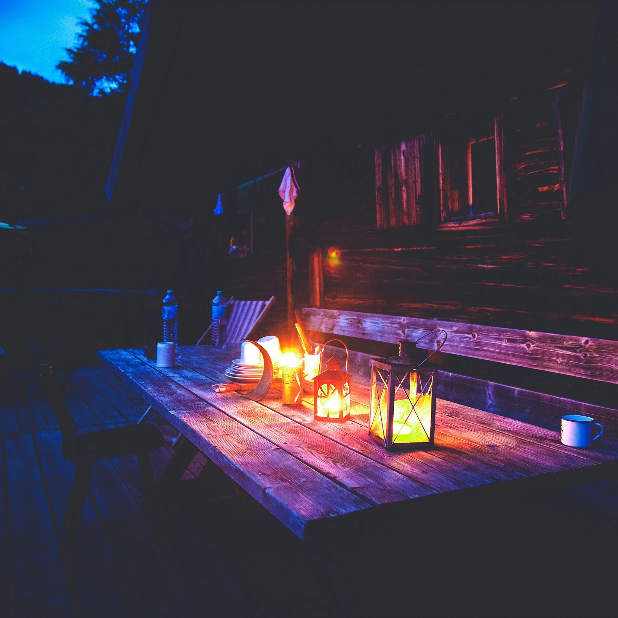 Camping night light summer iPad Air wallpaper