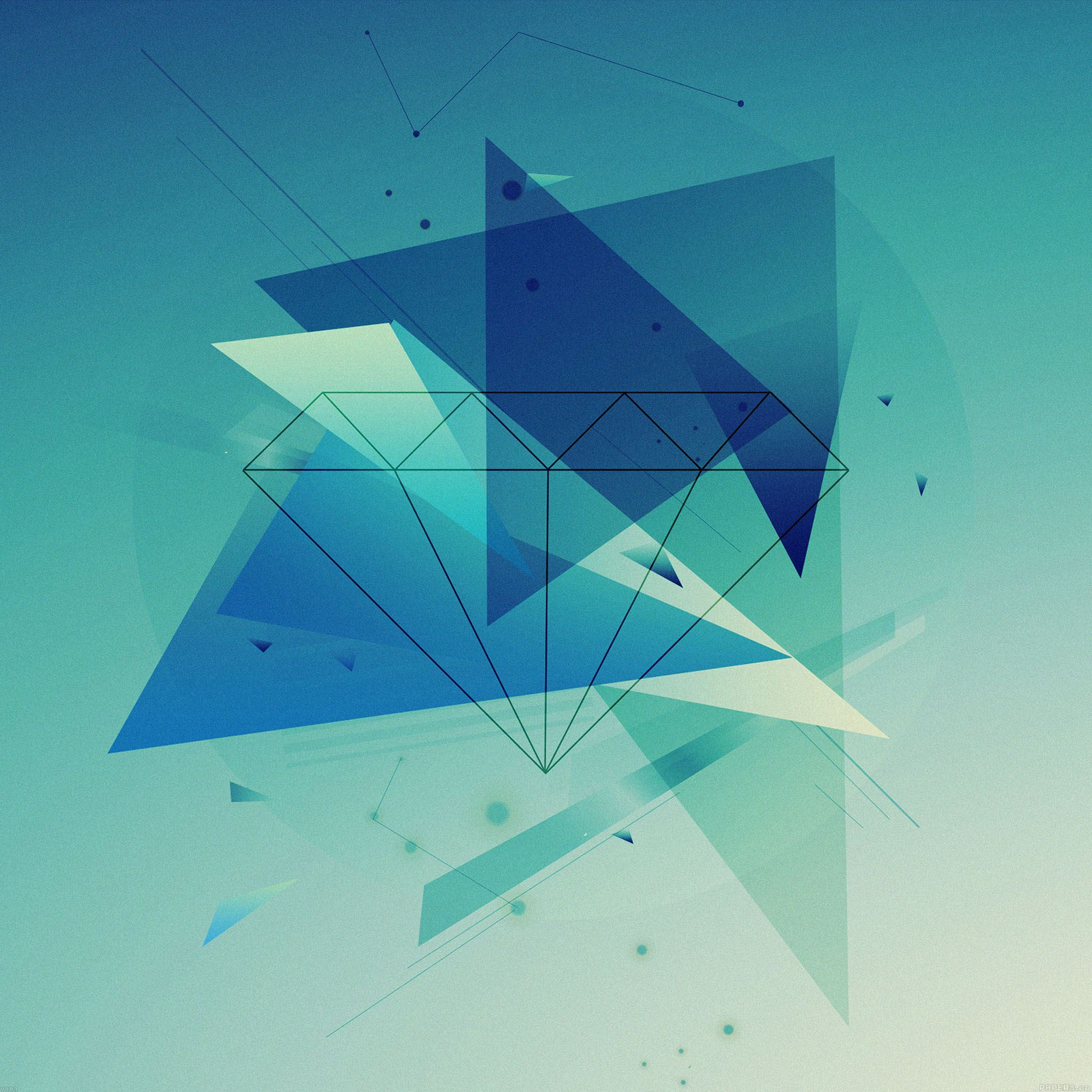 Diamond blue graphic art iPad Air wallpaper