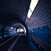 Streets Dark Cars Tunnel iPad Air wallpaper