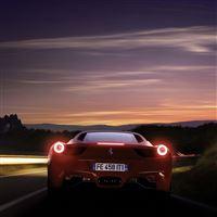 Running Ferrari 458 iPad Air wallpaper