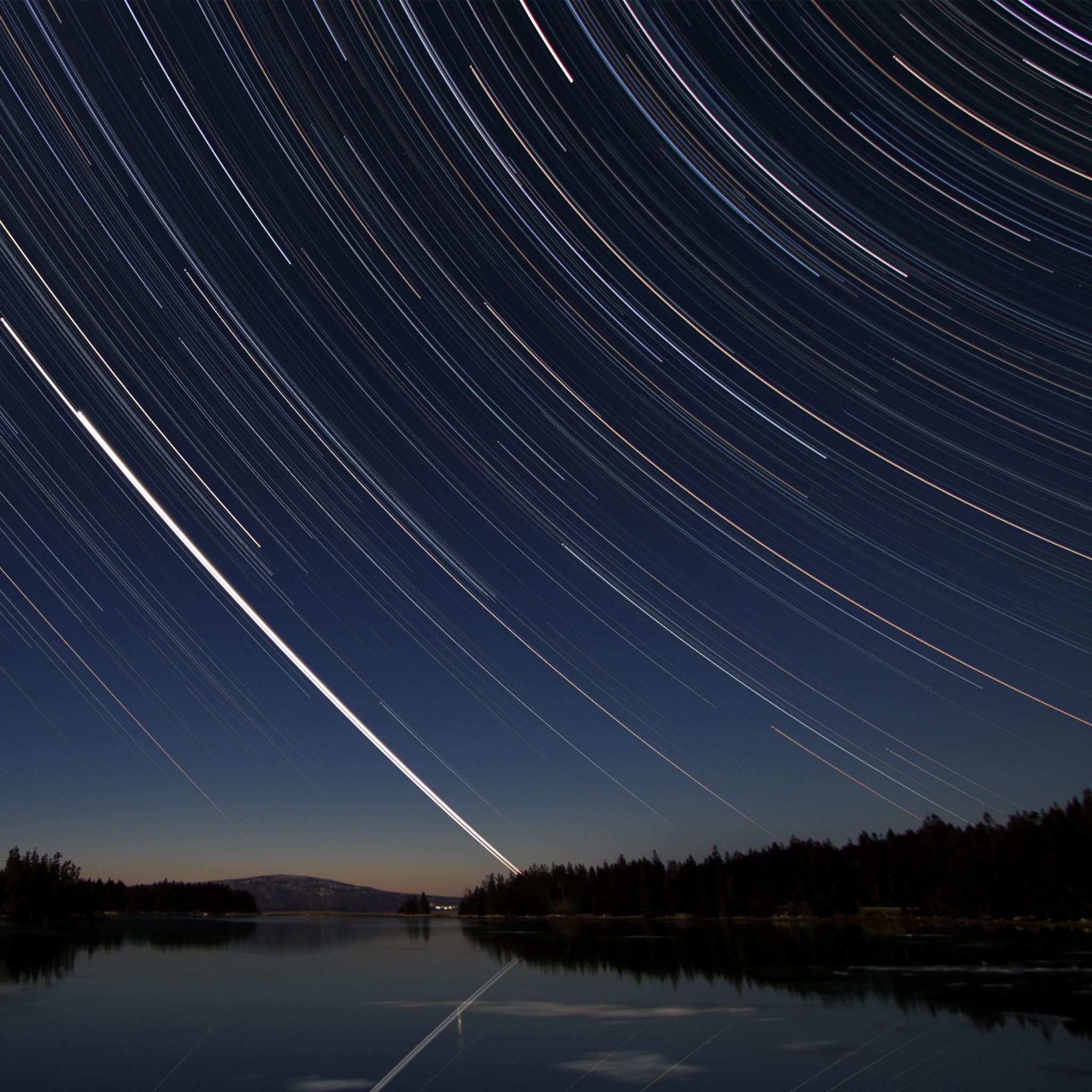 Stars over Acadia iPad Air wallpaper