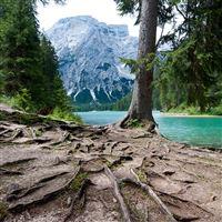 Lago di Braies iPad wallpaper