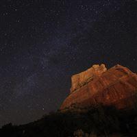 Sedona Milky Way iPad wallpaper