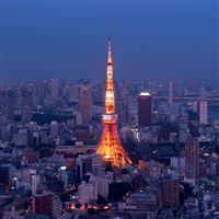 Tokyo Skyline iPad wallpaper