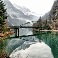 Mountain Lake Reflection iPad wallpaper