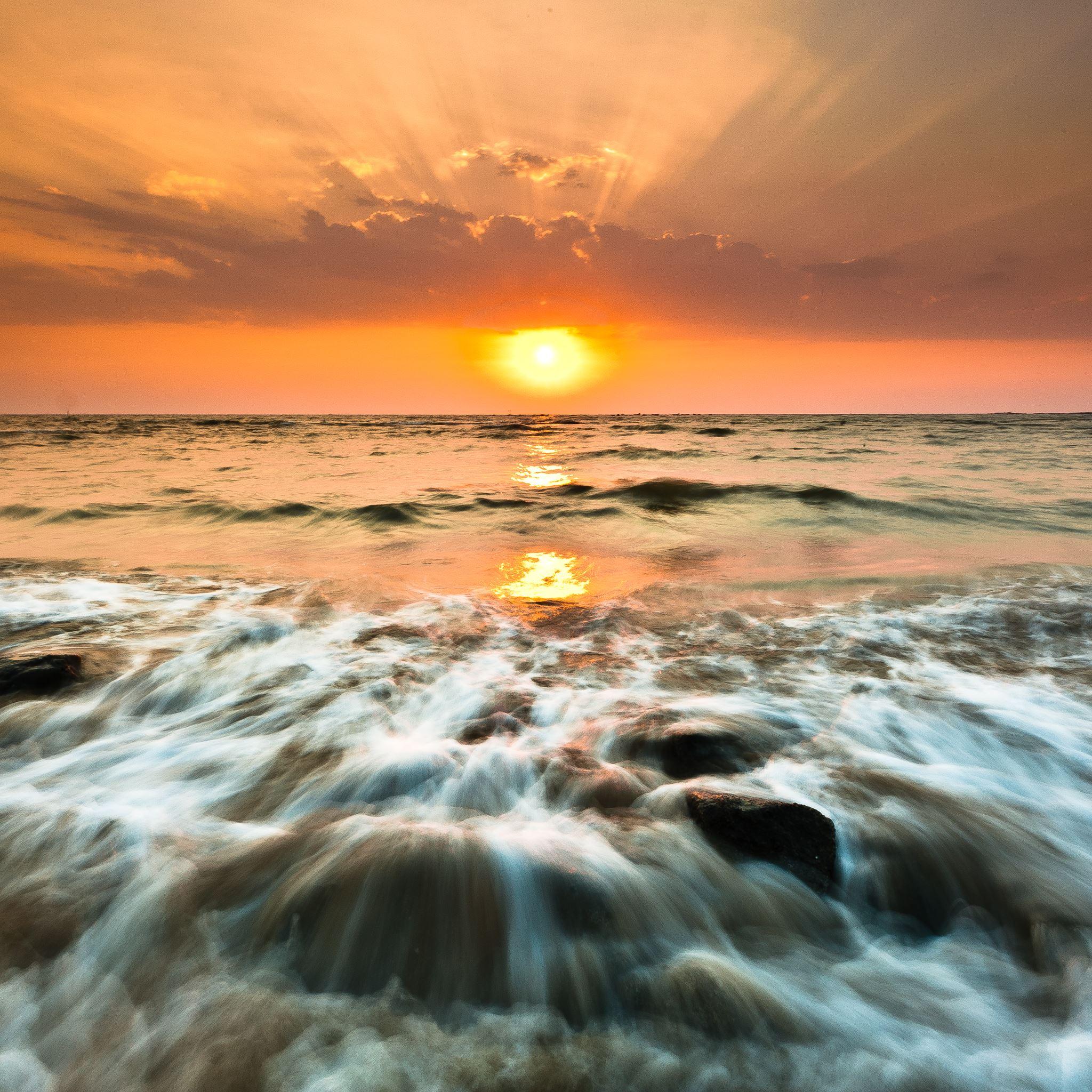 Gorai Sunset iPad Air wallpaper