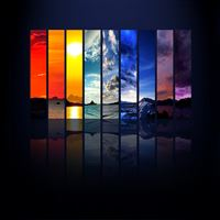 Rainbow Scenery iPad wallpaper