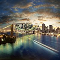 New York City Brooklyn Bridge iPad Air wallpaper