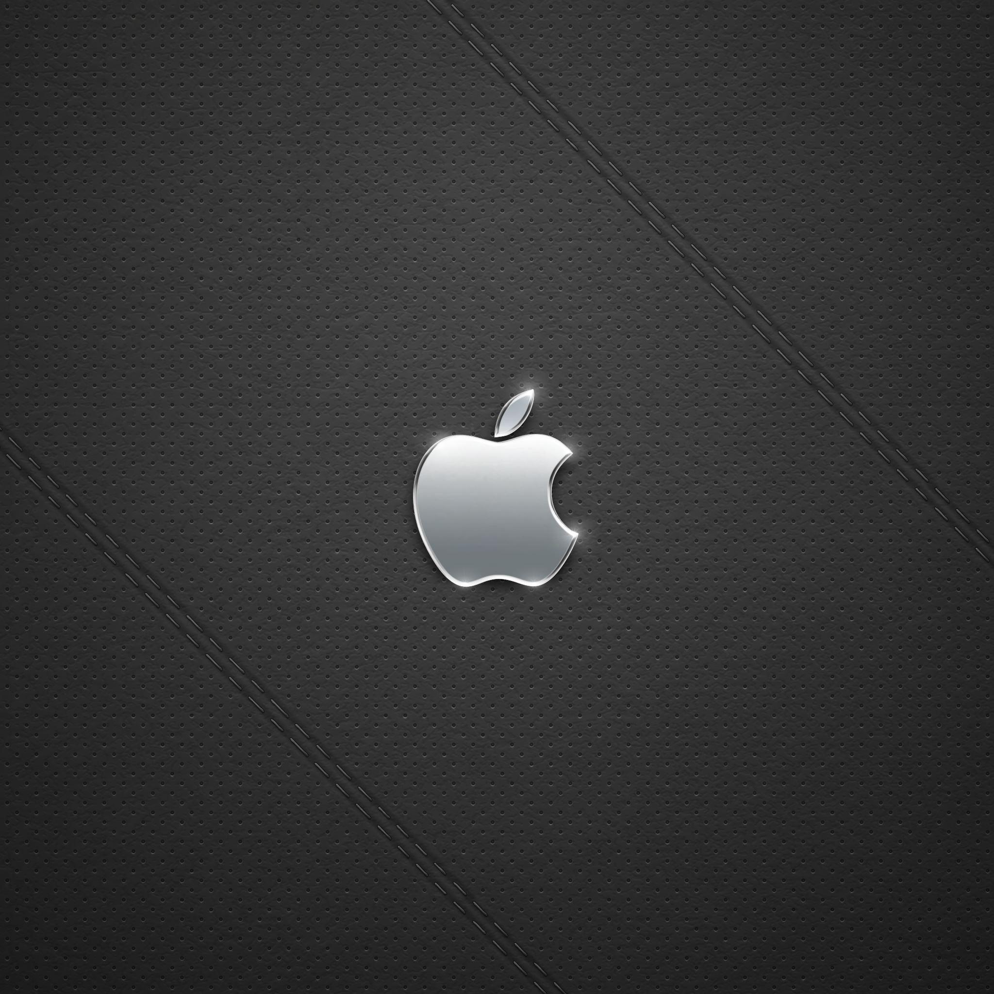 Black Leather Logo iPad Air wallpaper