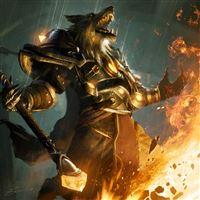 Worgen World of Warcraft iPad wallpaper
