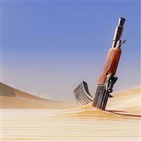 Gun in Sand iPad Air wallpaper