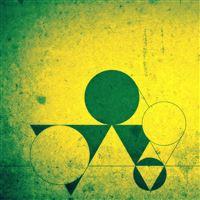 Green Shapes iPad wallpaper