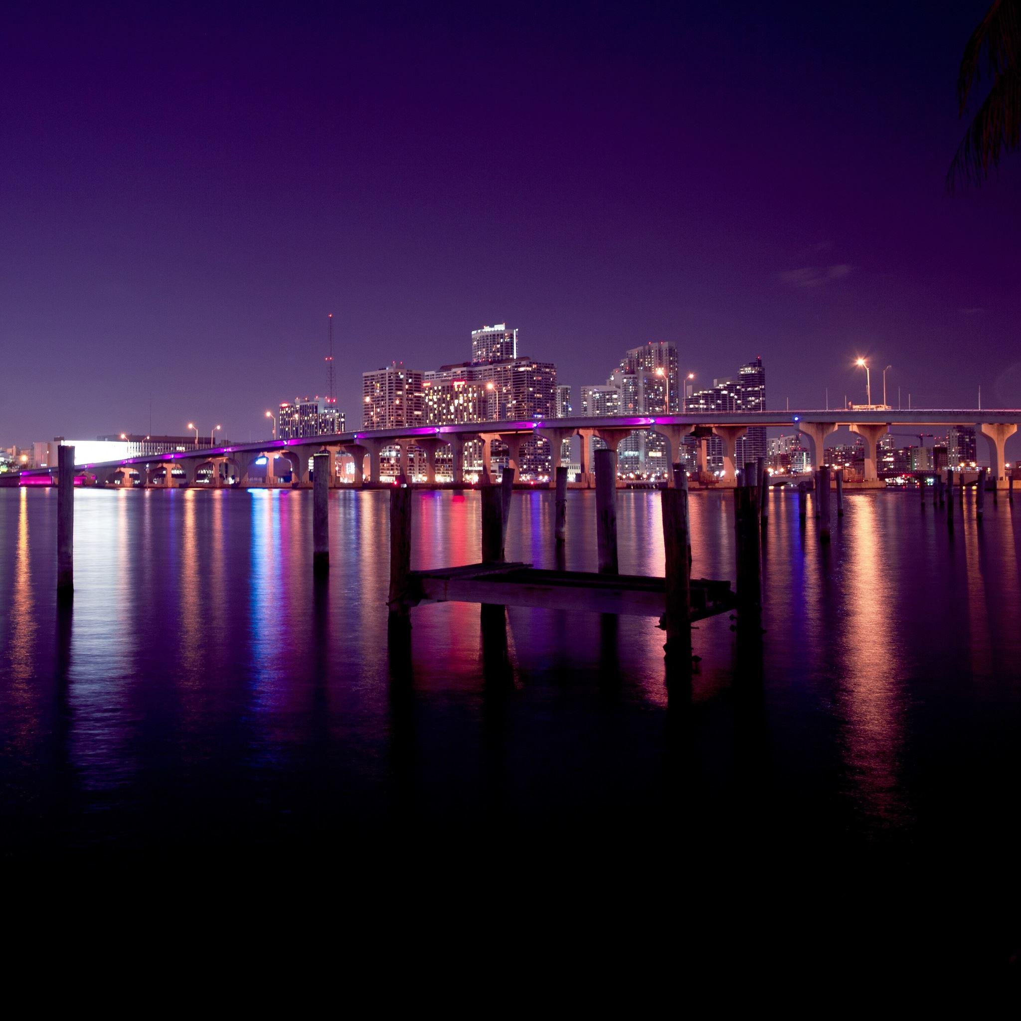 Miami Skyline iPad Air wallpaper