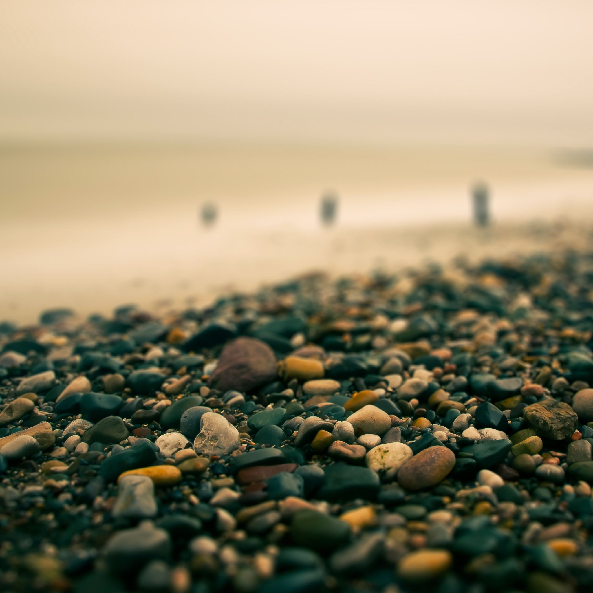 Beach Pebbles Autumn iPad Air wallpaper