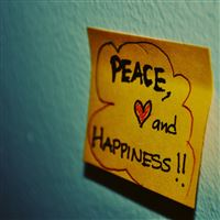 Peace love and happiness iPad Air wallpaper