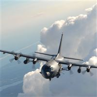Lockheed Ac 130 iPad wallpaper