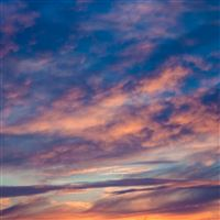 Nature Clouds Sunset Porous iPad Pro wallpaper