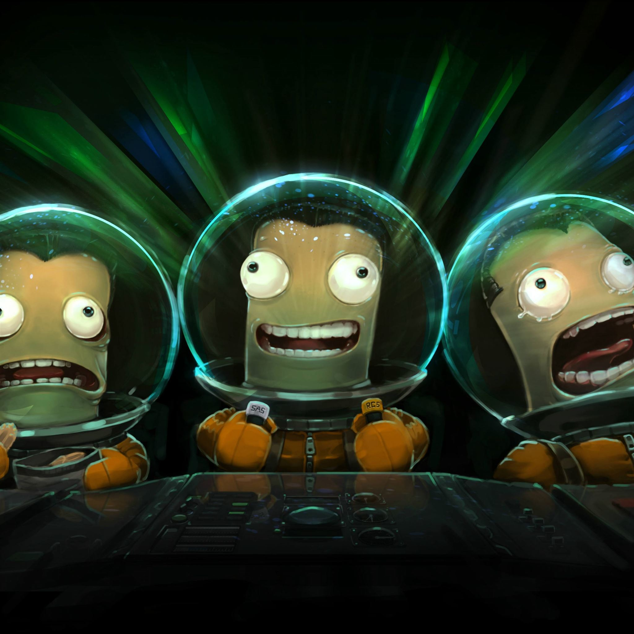 Kerbal Space Program Art Spacesuit Management iPad Pro wallpaper