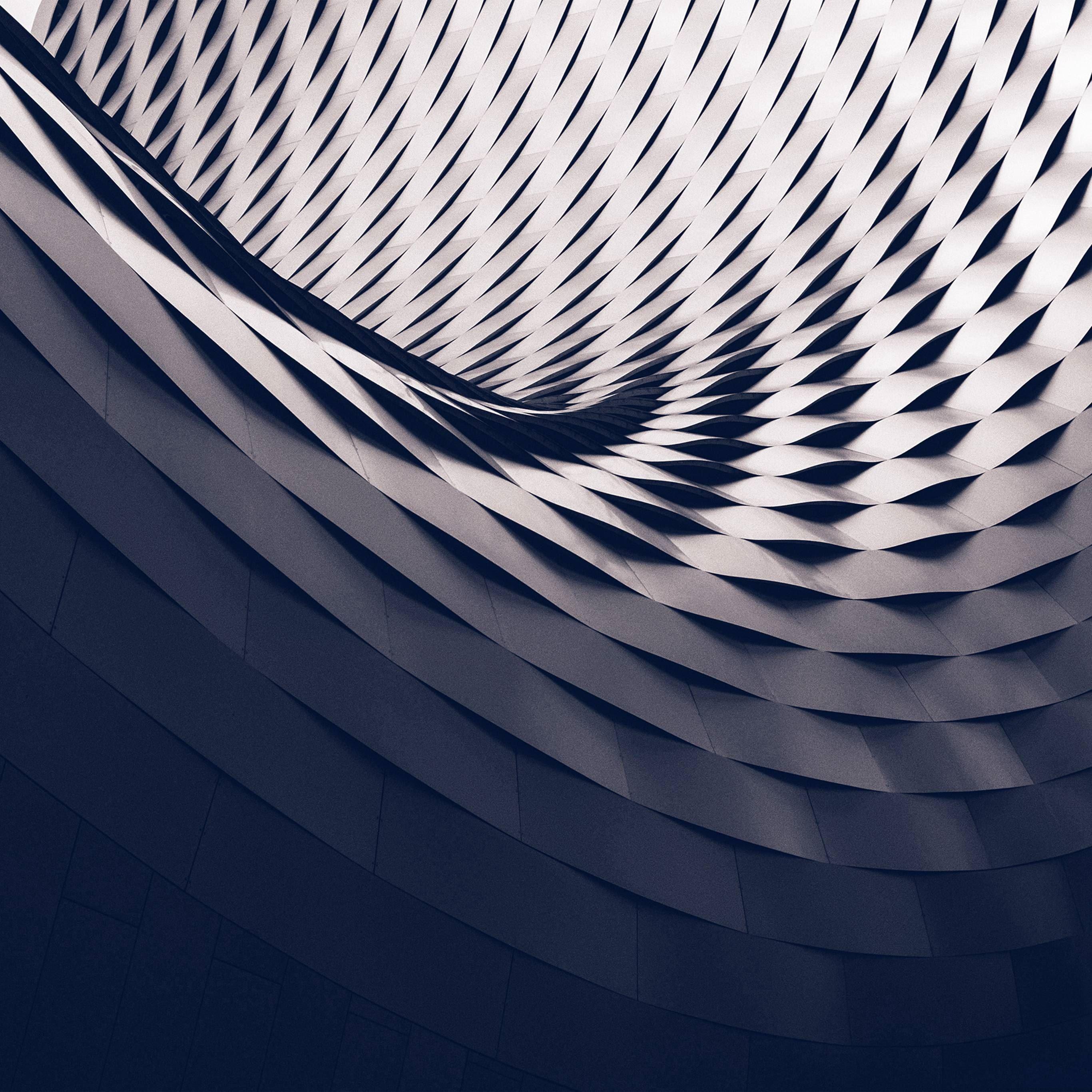Art Architecture Dark City Blue Pattern iPad Pro wallpaper
