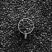 Coffee Bokeh Pattern Bw Dark iPad wallpaper