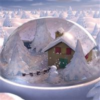 Christmas gift glass snowman snow house fur-trees iPad wallpaper