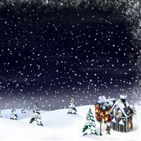 Christmas night iPad wallpaper