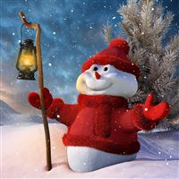 Christmas snowman iPad wallpaper