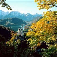 Castle bavaria height autumn germany iPad wallpaper