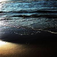 beach sand water sea whisper waves iPad Pro wallpaper