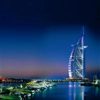 Dubai united arab emirates sea iPad wallpaper