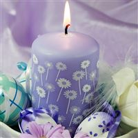 Candle eggs feathers flowers easter feast iPad wallpaper