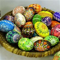 Easter holiday eggs lots patterns basket iPad wallpaper
