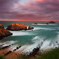 Spain coast decline rocks island iPad wallpaper