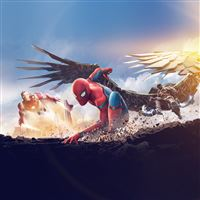 Spider-man hero marvel illustration art iPad wallpaper