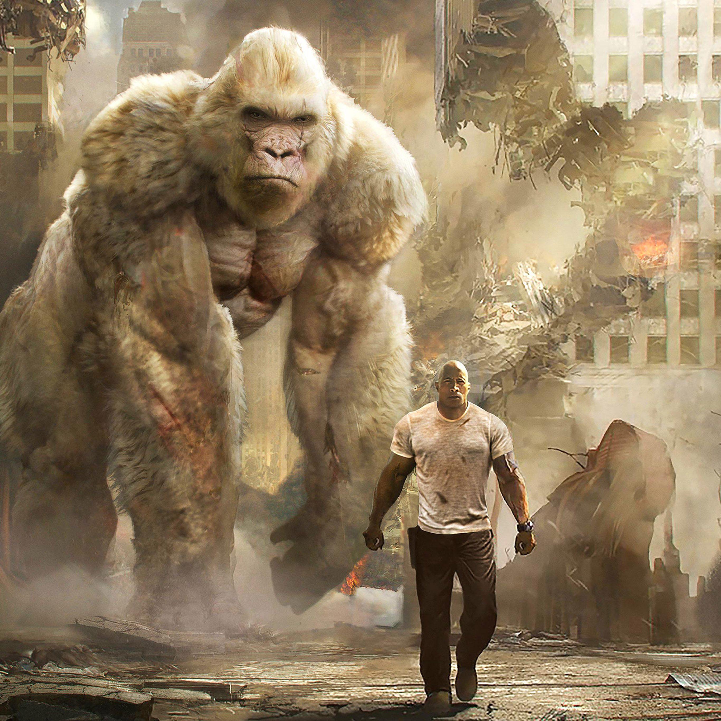 Rampage orangutans iPad Pro wallpaper