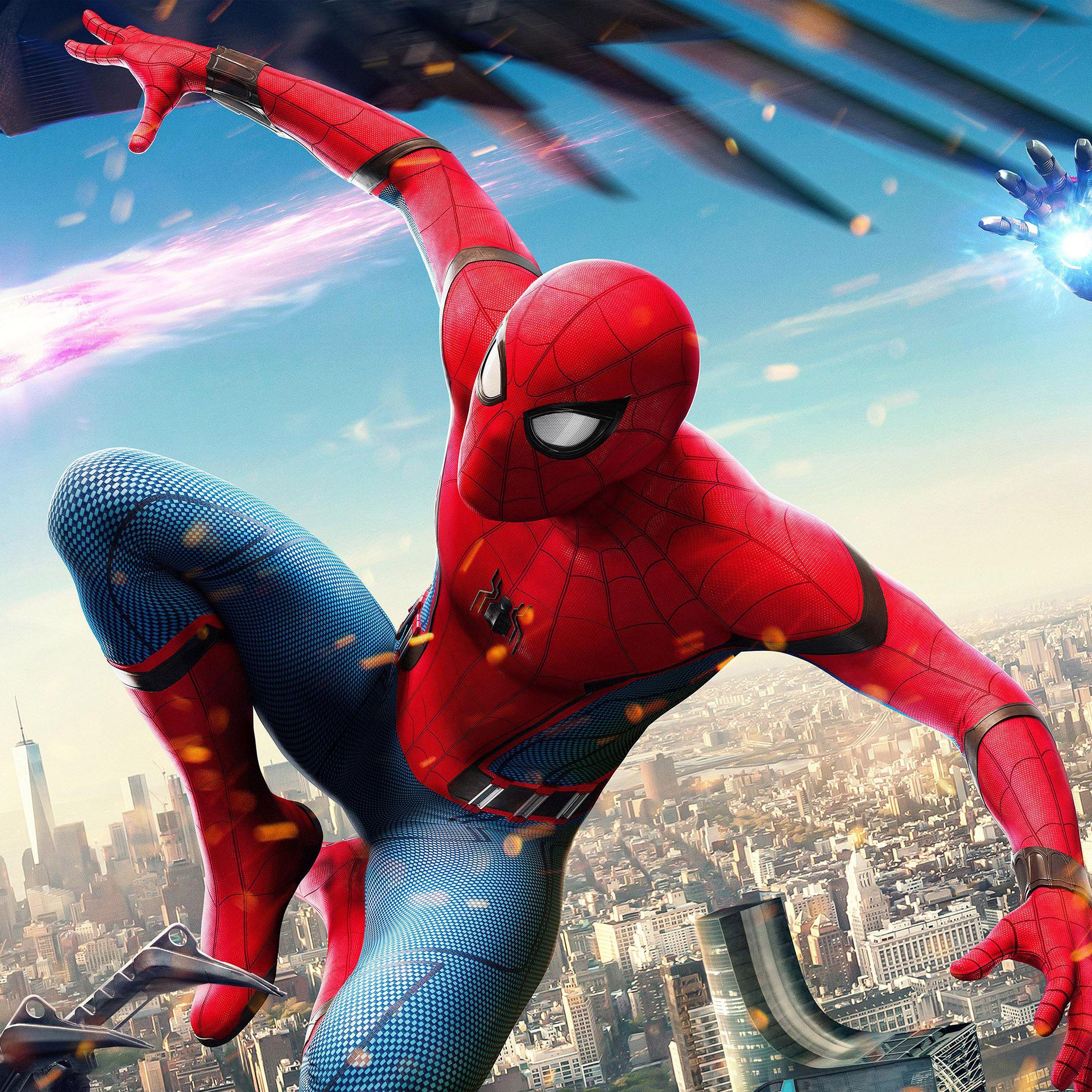 Spiderman hero iPad Pro wallpaper