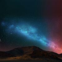 Night sky dark color star shining iPad wallpaper