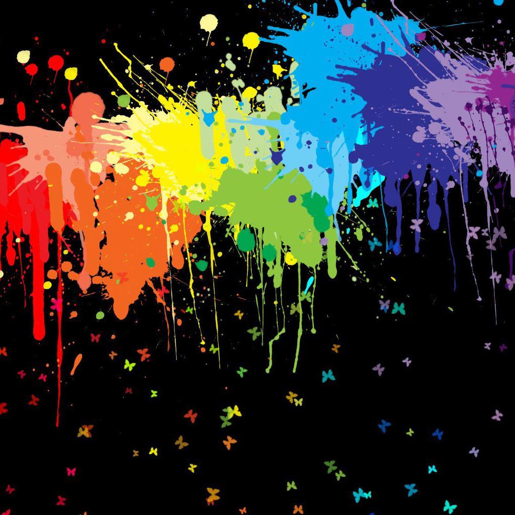 Color Splash IPad Wallpaper