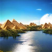 Egyptian Paradise iPad wallpaper
