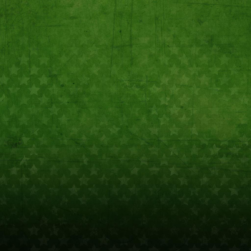 Green Stars iPad wallpaper