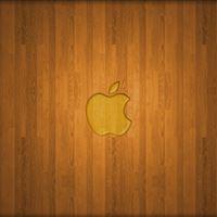 Wooden Apple Logo iPad wallpaper
