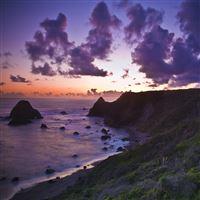 Purple Sunset iPad wallpaper