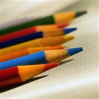 Colorful Crayons iPad wallpaper