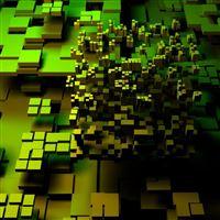 Green Squares iPad wallpaper