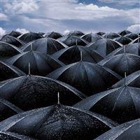 Umbrellas iPad wallpaper