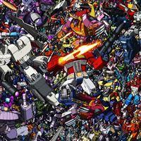 Transformers Collage iPad wallpaper
